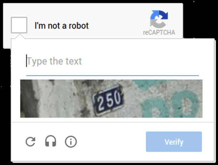 No Captcha reCaptcha - bisherige Zahlenkombination