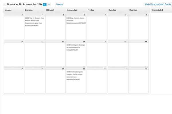 Redaktionsplan inspiras webagentur