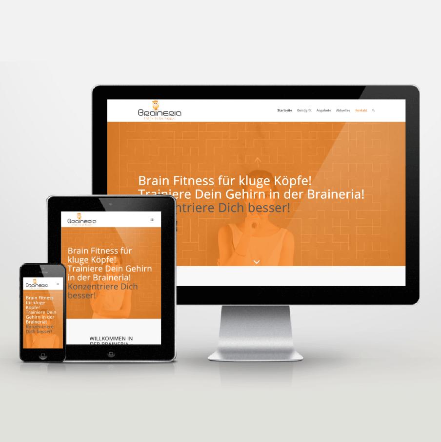 Website-Entwicklung im Responsive Design für Braineria - inspiras webagentur