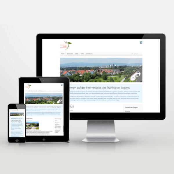 Website-Entwicklung im Responsive Design für die Frankfurter-Bogen-Community - inspiras webagentur