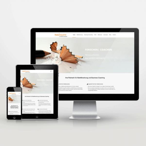 Website-Entwiclung im Responsive Design für die Holzhauerei - inspiras webagentur