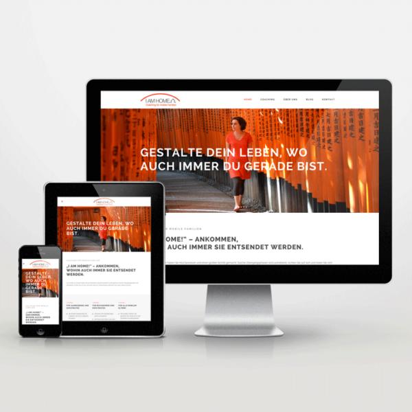 Website-Entwicklung im Responsive Design für I-am-home - inspiras webagentur