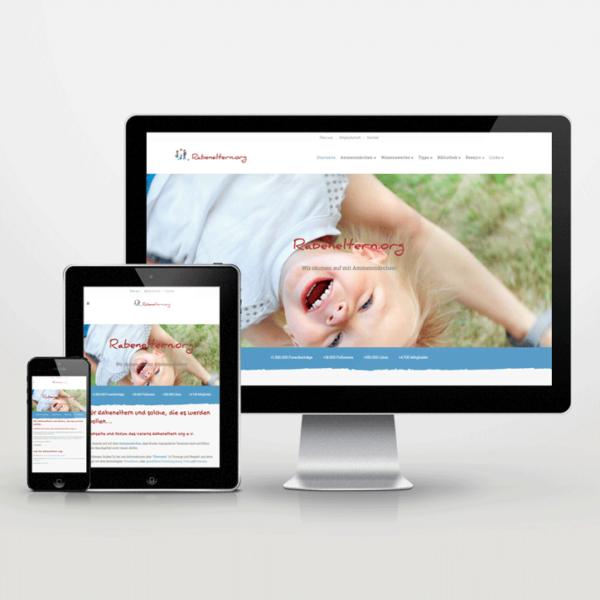 Website-Entwicklung im Responsive Design für den Rabeneltern e.V. - inspiras webagentur