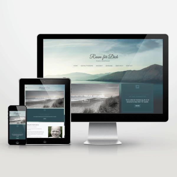 Website-Entwicklung im Responsive Design für Raum-fuer-Dich - inspiras webagentur