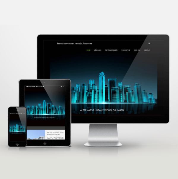 Website-Entwicklung im Responsiv Design für tectonics solutions - inspiras webagentur