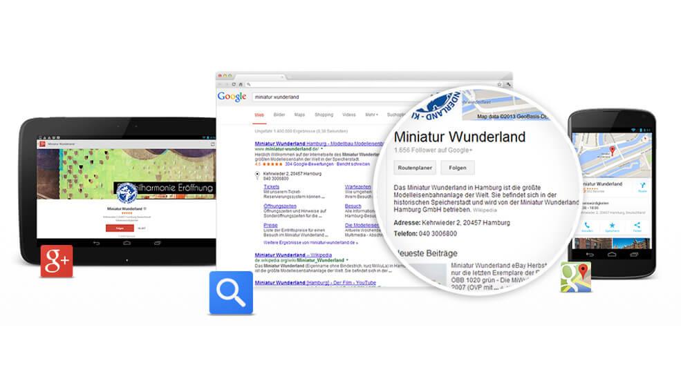 Google+ My Business Screenshot