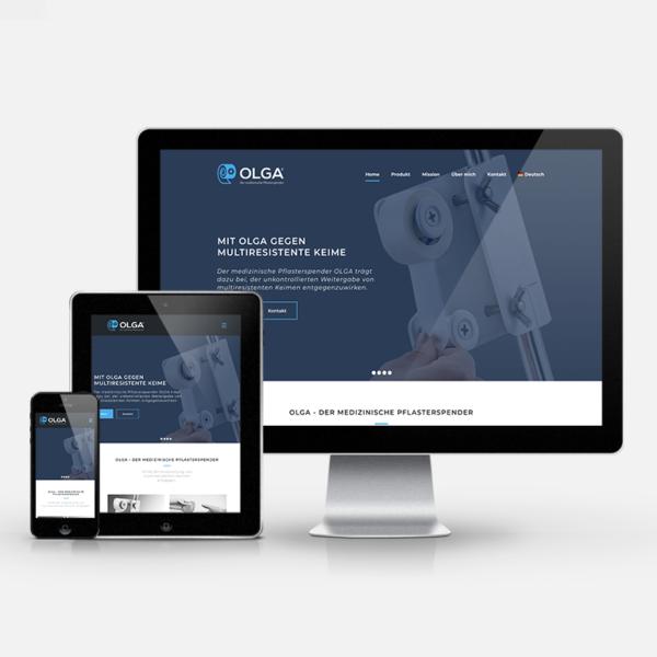 Website Neugestaltung OLGA Plaster   inspiras webagentur